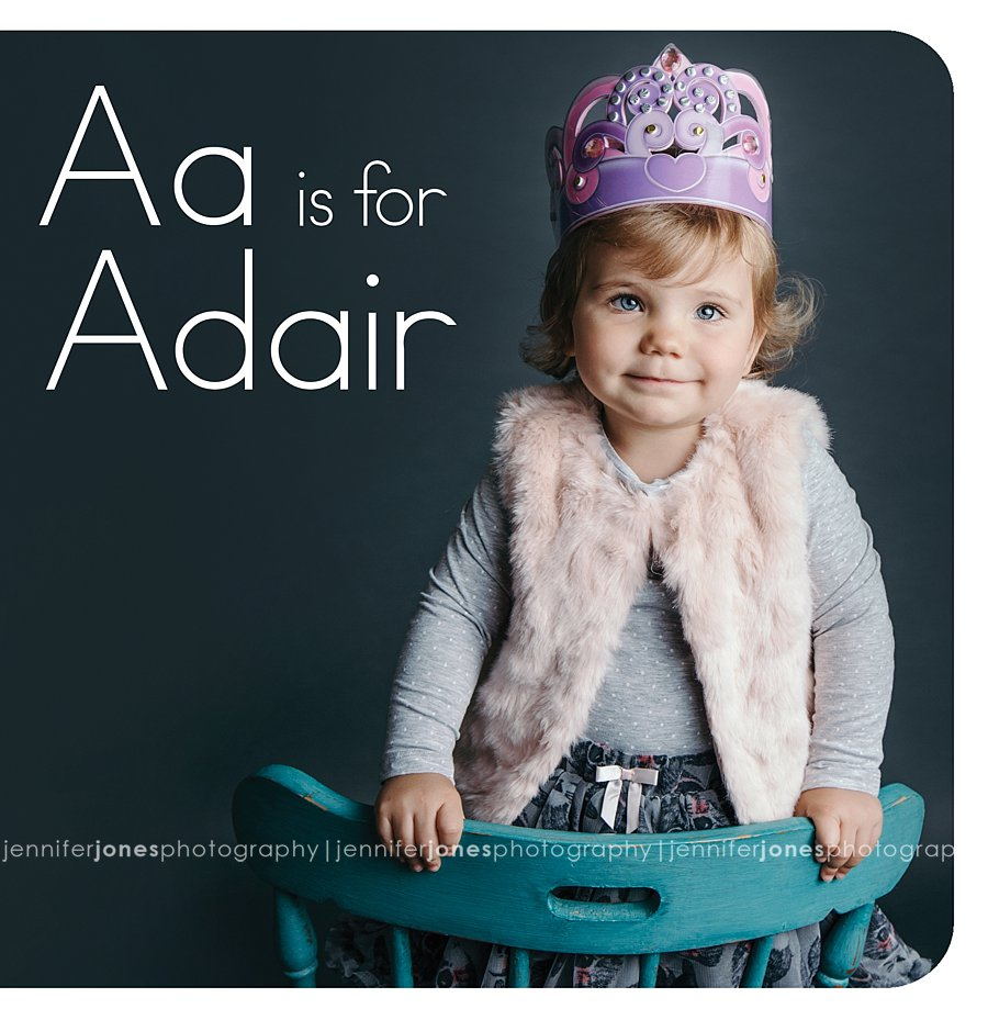 a is for adair custom abc board book jennifer jones photography